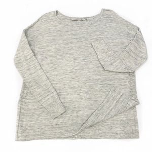 Athleta Marled Gray Tunic Sweater Oversize Size XS